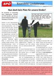 Der Voranschlag - SPÖ Enzesfeld-Lindabrunn