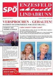 VERSPROCHEN - GEHALTEN! - SPÖ Enzesfeld-Lindabrunn