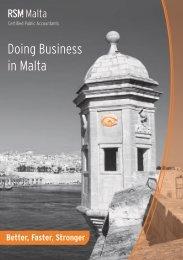 Doing Business in Malta - RSM International
