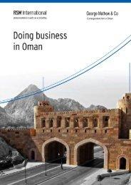 Doing Business in Oman - RSM International