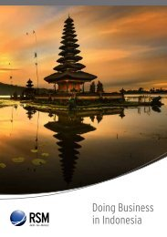 Doing Business in Indonesia - RSM International