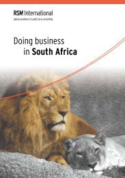 Doing business in South Africa - RSM International
