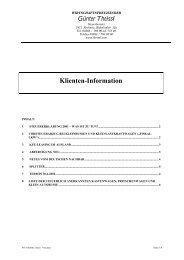 Klienteninformation April 2002 - Theissl