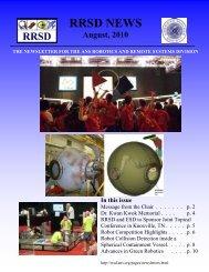 August, 2010 - ANS - RRSD - American Nuclear Society