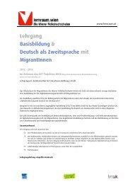 Lehrgang Basisbildung & Deutsch als ... - Netzwerk MIKA