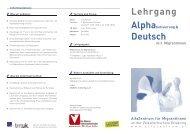 Lehrgang Deutsch - Netzwerk MIKA