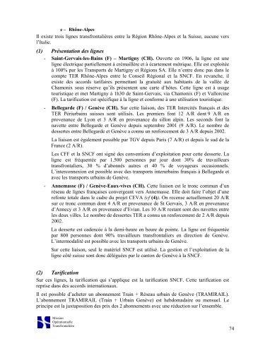 (1) Présentation des lignes (2) Tarification - Espace eco9.ch