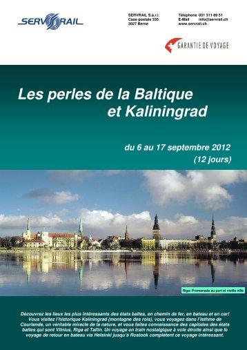 Les perles de la Baltique et Kaliningrad du 6 au 17 ... - SERVRail