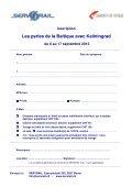 Les perles de la Baltique et Kaliningrad du 6 au 17 ... - SERVRail - Page 4