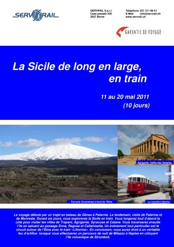 La Sicile de long en large, en train 11 au 20 mai 2011 - SERVRail