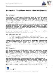Die formative Evaluation der Ausbildung für ... - Netzwerk MIKA