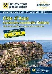 Côte d'Azur - Reisewelt