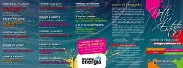 Programma Notti d'Estate a Reggello (File pdf - 818KB) - Comune di ...