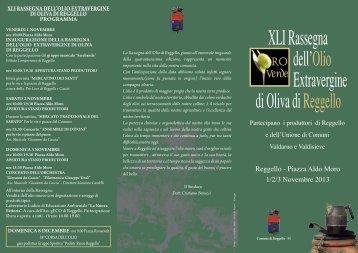 depliant Rassegna olio (File pdf - 533KB) - Comune di Reggello