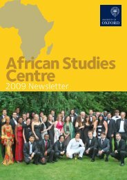 2009 Newsletter - African Studies Centre - University of Oxford
