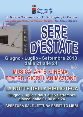 Programma sere d estate in biblioteca 2013 (File pdf - 281KB)