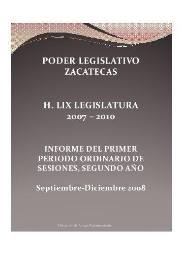 Primer Período - Congreso del Estado de Zacatecas