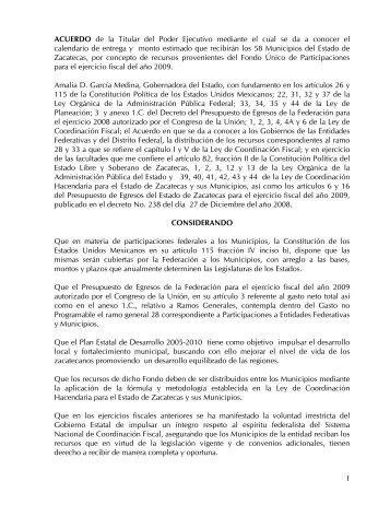 2009 - Secretaría de Finanzas