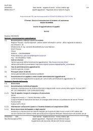 Appalto di servizi - Avviso relativo agli appalti ... - Regione Toscana