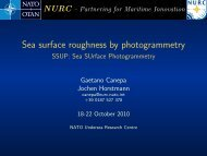 Sea surface roughness by photogrammetry - SSUP: Sea ... - Nato