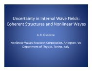 Uncertainty in Internal Wave Fields: Coherent Structures and ...