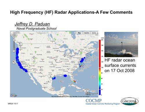 High Frequency (HF) Radar Applications-A Few Comments