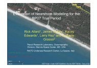 Evaluation of Nearshore Modeling for the BP07 Trial Period - Nato
