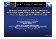 Assessment of deterministic and stochastic multi-model ... - Nato