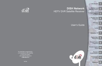 DishNetwork VIP622 DVR user guide - Aeitv.net
