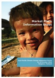 Market Place Information Sheet - Asia Pacific Adaptation Network