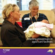 Starting Playgroups in Aged Care Facilities