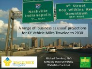 Annual change in VMT - Kentucky State University Organic ...
