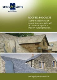 Greys Art Stone brochure - Build It Green