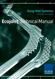 ecojoist technical manual - construction studies