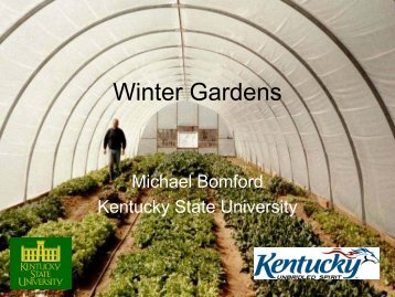 Winter Gardens - Kentucky State University Organic Agriculture ...
