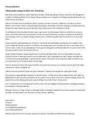 Pressemeddelelse. Silkeborg løber udtaget til ... - Silkeborg Skiklub