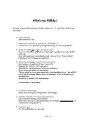 Referat generalforsamling 2008 - Silkeborg Skiklub