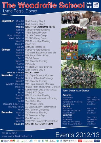 Events_Calendar_2012_13_Front copy - The Woodroffe School