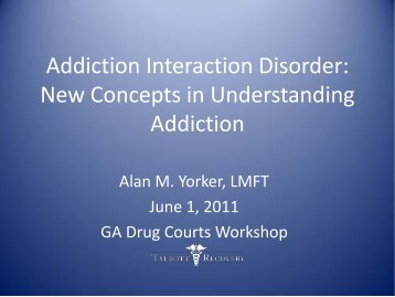 Addiction Interaction Disorder New Concepts in Understanding ...