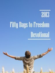 50 Days to Freedom - Purcellville Baptist Church
