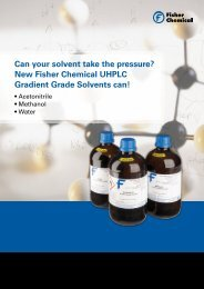 New Fisher Chemical UHPLC Gradient Grade Solvents can!