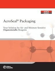 AcroSeal Packaging Your Solution for Air- and ... - Acros Organics