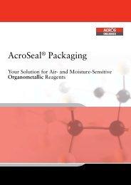 Organometallic reagents in AcroSeal packaging - Acros Organics