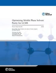 Optimizing Mobile Phase Solvent Purity for LCMS - Acros Organics