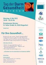 Klagenfurt Darmkrebstag Folder - Selbsthilfe Kärnten