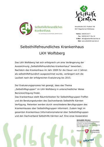 LKH Wolfsberg - Selbsthilfe Kärnten