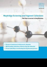 Maybridge Screening and Fragment Collections