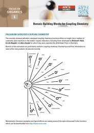 Boronic Building Blocks (PDF only) - Acros Organics