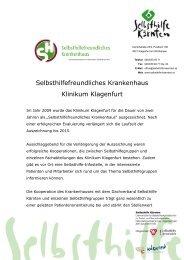 Klinikum Klagenfurt - Selbsthilfe Kärnten