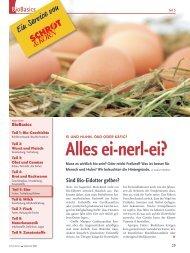 Bio-Basiswissen: Ei und Huhn (Schrot&Korn 9/2008)